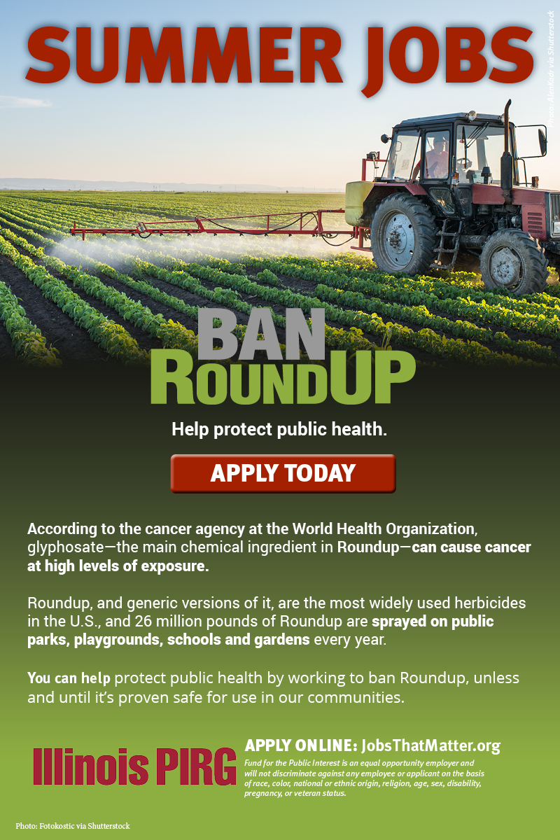 Jobs to ban Roundup. APPLY TODAY.