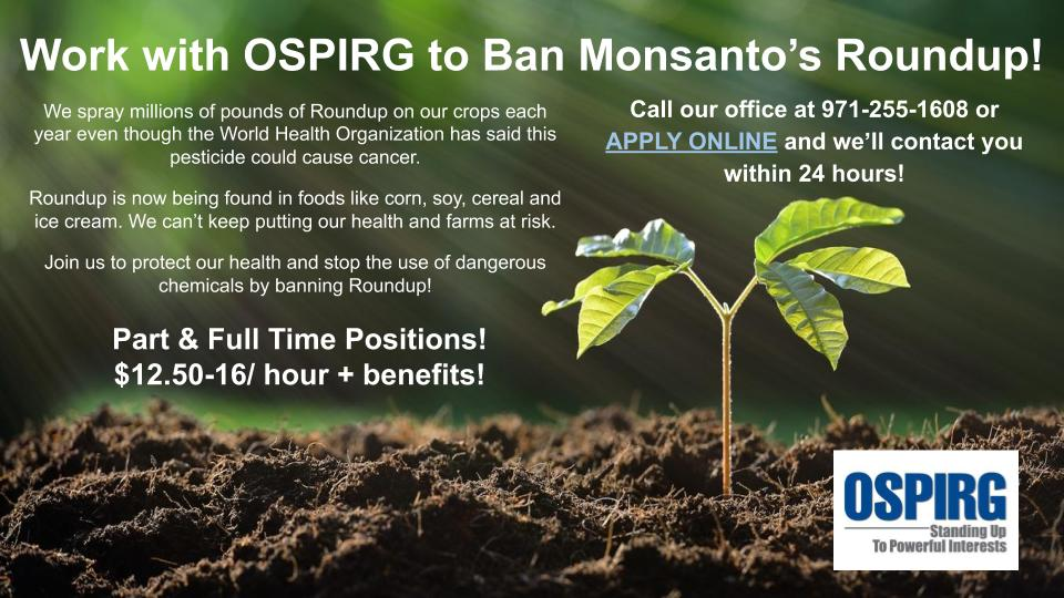 Work With OSPIRG to Save the Planet