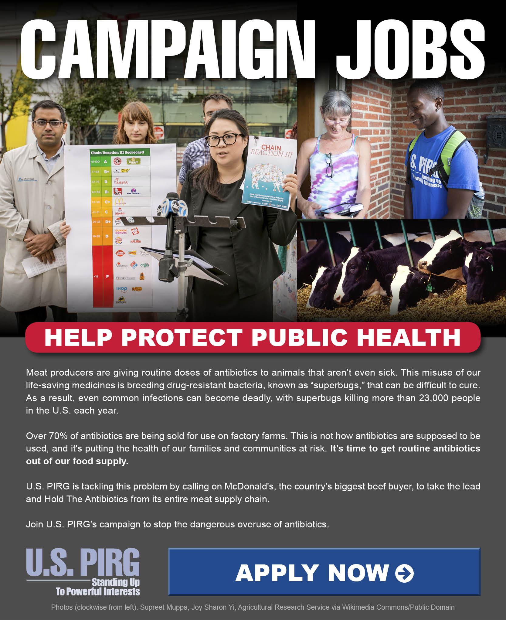 Help Protect Public Health.